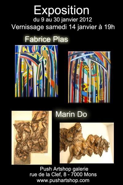 Vernissage de l'exposition de Fabrice Plas à Push Artshop à Mons Janvier 2012
